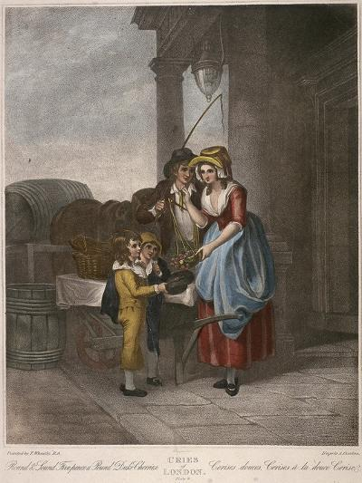 Round and Sound Fivepence a Pound Duke Cherries, Cries of London, C1870-Francis Wheatley-Giclee Print