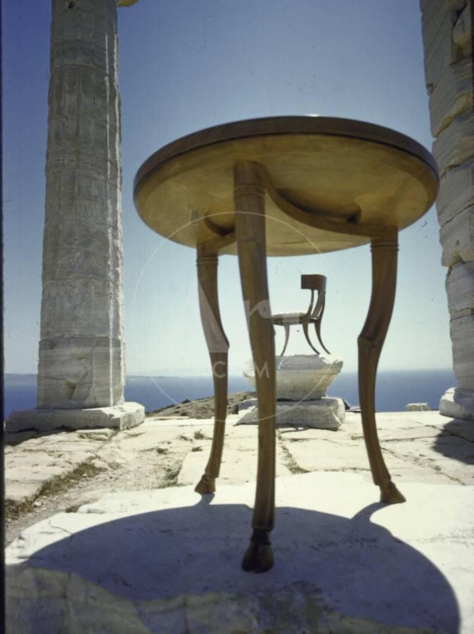 Round Table Loomis.Round Carved Deer Leg Table By American Designer T H Robsjohn Gibbings Photographic Print By Loomis Dean Art Com
