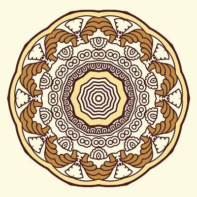 Round Decorative Design Element-epic44-Art Print