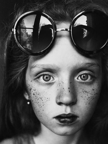 Round Glasses Reflection-Kharinova Uliana-Photographic Print