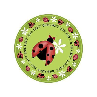 Round Lady Bug-Maria Trad-Giclee Print