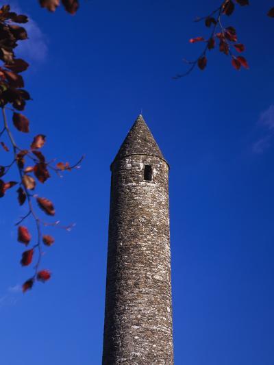 Round Stone Tower at Glendalough-Design Pics Inc-Photographic Print