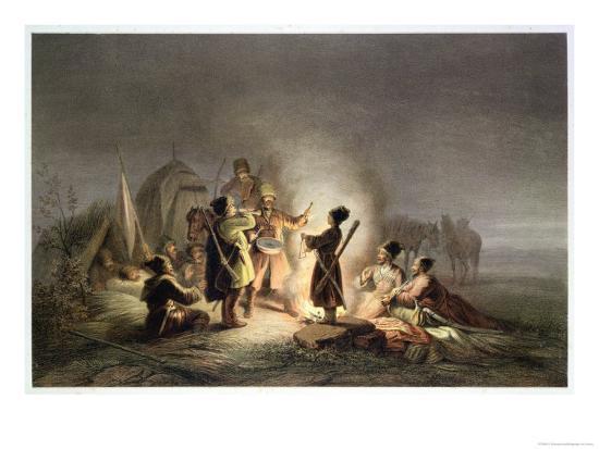 Round the Camp Fire-H. Kretzschmer-Giclee Print