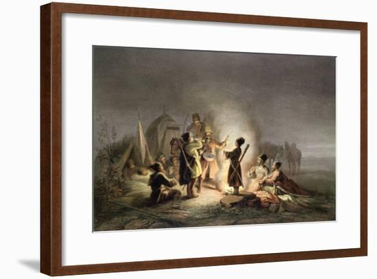 Round the Camp Fire-H. Kretzschmer-Framed Giclee Print
