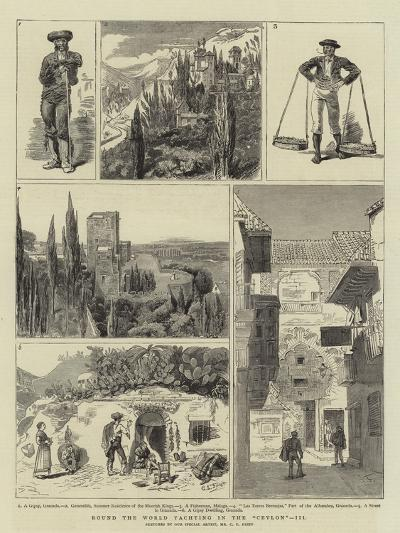 Round the World Yachting in the Ceylon, III-Charles Edwin Fripp-Giclee Print