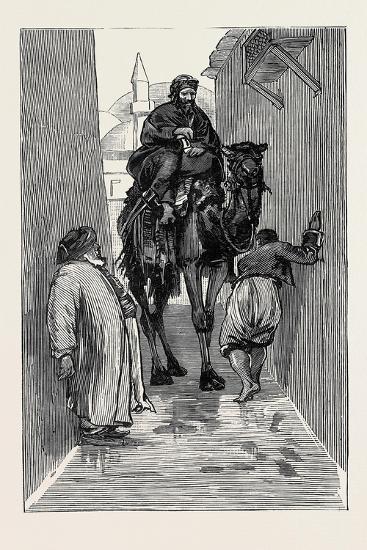 Round the World Yachting in the Ceylon; Smyrna and Ephesus: an Awkward Path--Giclee Print