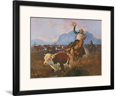 Round Up Time-George Phippen-Framed Art Print