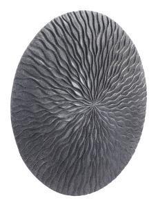 Round Wave Large Plaque Dark Gray