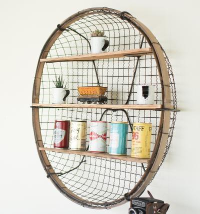 Round Wire Basket Wall Shelf--Home Accessories