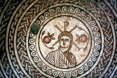 Roundel from a Roman Villa, St Mary, Dorset, 4th Century Ad--Photographic Print