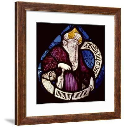 Roundel of the Prophet Ezekiel, 15th Century--Framed Giclee Print
