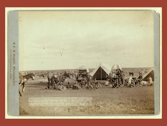 Roundup Scenes on Belle Fouche [Sic] in 1887-John C. H. Grabill-Giclee Print