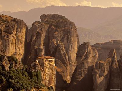 Roussanou Monastery, Meteora, Thessaly, Greece-Walter Bibikow-Photographic Print