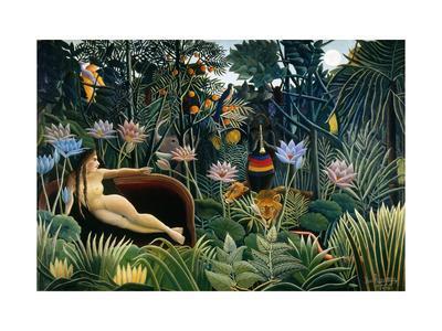 Rousseau: Dream, 1910-Henri Rousseau-Giclee Print
