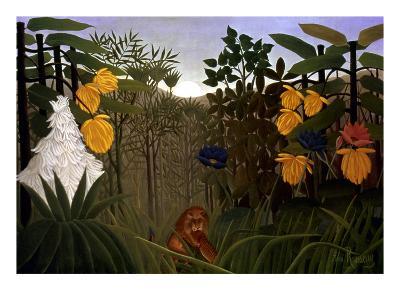 Rousseau: Lion-Henri Rousseau-Giclee Print
