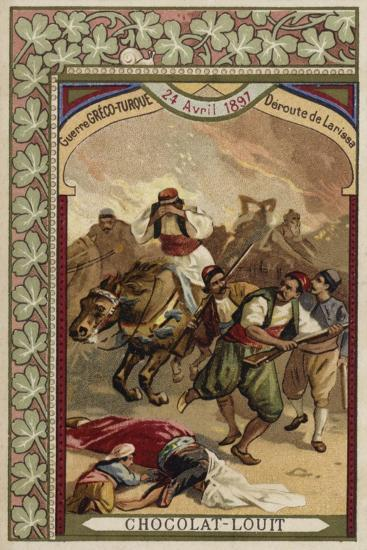 Rout of the Greeks at Larissa, Greco-Turkish War, 24 April 1897--Giclee Print