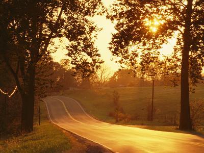Route 11 Outside of Mt. Jackson at Twilight-Richard Nowitz-Photographic Print