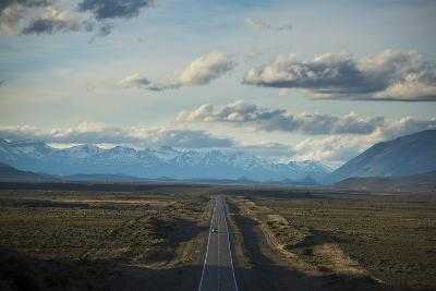 Route 40 in Patagonia with Distant Andean Peaks-Alex Treadway-Photographic Print