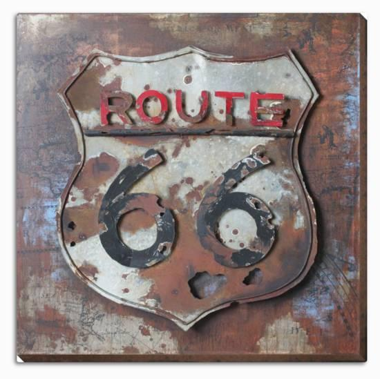 Route 66 Dimensional Metal Wall Art