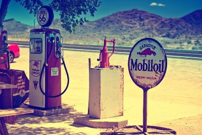 Route 66 - Gas Station - Arizona - United States-Philippe Hugonnard-Photographic Print