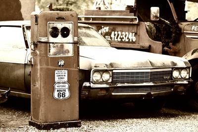 Route 66 - Gas Station - Arizona - United States-Philippe Hugonnard-Photographic Print