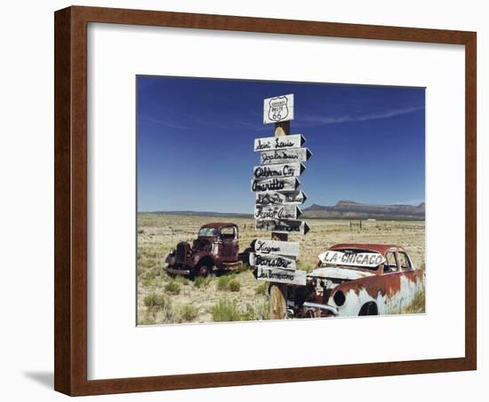 Route 66 Which Cross United States from Los Angeles to Chicago, Photo Taken in 2005--Framed Photo