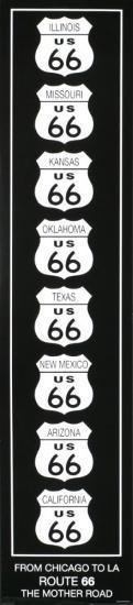 Route 66-Rod Kennedy-Art Print