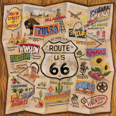 Route 66-Karen Dupr?-Art Print