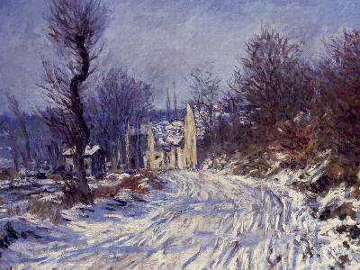 Route de Giverny en Hiver, 1885-Claude Monet-Giclee Print