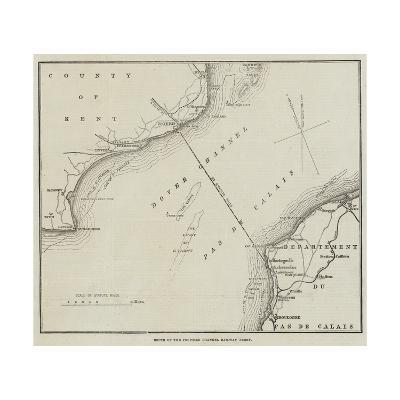 Route of the Proposed Channel Railway Ferry--Giclee Print