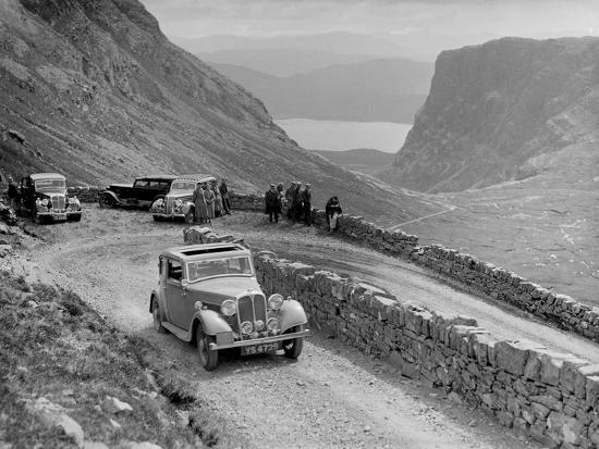 Rover 4-door saloon of IH Mackay competing in the RSAC Scottish Rally, 1936-Bill Brunell-Photographic Print