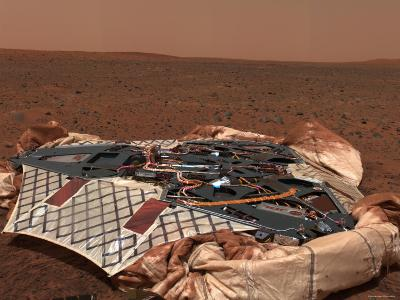 Rover's Landing Site, the Columbia Memorial Station, at Gusev Crater, Mars-Stocktrek Images-Photographic Print