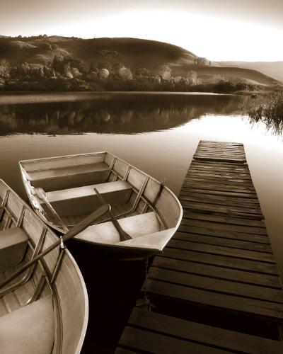 Row Boat Awaits-Danita Delimont-Art Print