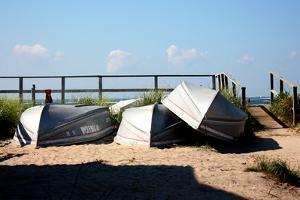 Row Boats Ocean Beach Fire Island NY