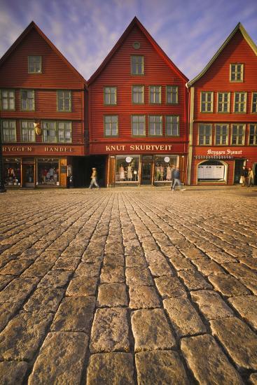 Row Houses in Bryggen-Jon Hicks-Photographic Print