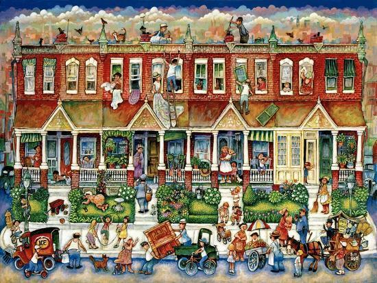 Row Houses-Bill Bell-Giclee Print