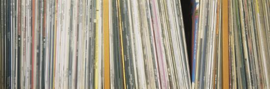 Row of Music Records, Germany--Photographic Print