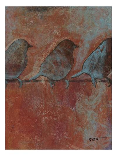 Row of Sparrows II--Art Print