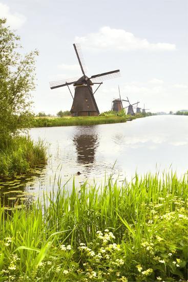 Row of Windmills in Kinderdijk, the Netherlands-Colette2-Photographic Print
