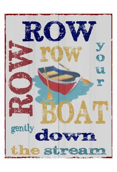 Row Row-Taylor Greene-Art Print