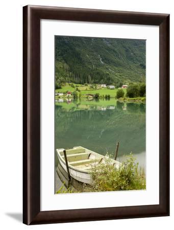 Rowboat. Olden, Norway-Tom Norring-Framed Photographic Print