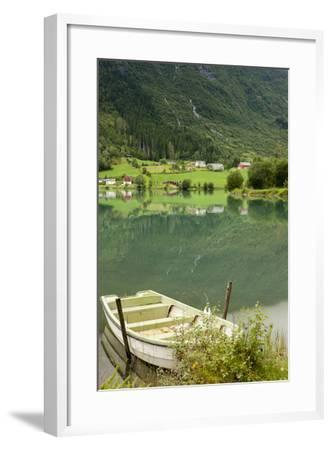 Rowboat. Olden, Norway-Tom Norring-Framed Photographic Print