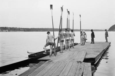 Rowers on Dock