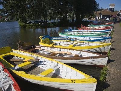 Rowing Boats Lined Up on the Meare Boating Lake, Thorpeness, Suffolk, England, UK, Europe-Ian Murray-Photographic Print