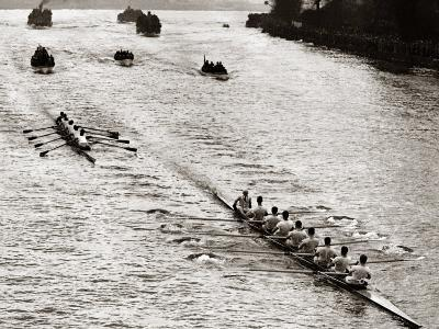 Rowing, Oxford V Cambridge Boat Race, 1928--Photographic Print