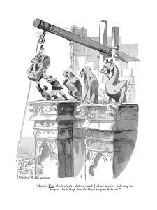 """""""Look. You think they're hideous and I think they're hideous, but maybe th?"""" - New Yorker Cartoon by Rowland Wilson"""