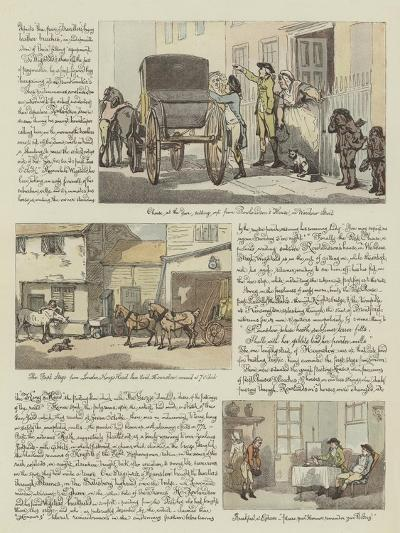 Rowlandson's Tour in a Post Chaise, 1782-Thomas Rowlandson-Giclee Print