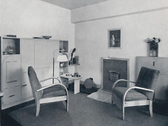 'Rowley Gallery of Decorative Art Ltd - Combined dining-living-room closed', 1939-Unknown-Photographic Print