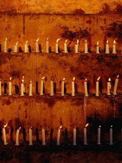 Rows of Candles at Mahabodhi Temple, Bodhgaya, Bihar, India-Richard I'Anson-Photographic Print