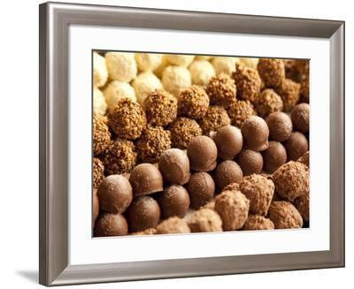 Rows of Chocolates in a French Cafe, France, Europe-Frank Fell-Framed Photographic Print